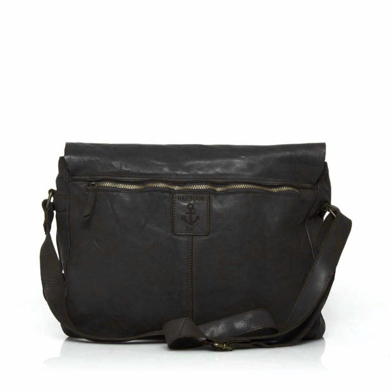 HARBOUR2nd Messenger Bag Yamal Dark Ash, Farbe: anthrazit, Marke: Harbour 2nd, Abmessungen in cm: 37.0x30.0x9.0, Bild 4 von 4