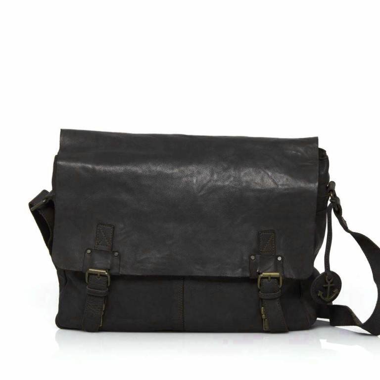 HARBOUR2nd Messenger Bag Yamal Dark Ash, Farbe: anthrazit, Marke: Harbour 2nd, Abmessungen in cm: 37.0x30.0x9.0, Bild 1 von 4