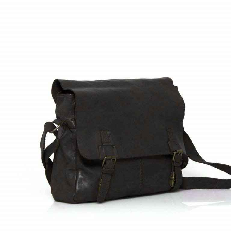 HARBOUR2nd Messenger Bag Yamal Dark Ash, Farbe: anthrazit, Marke: Harbour 2nd, Abmessungen in cm: 37.0x30.0x9.0, Bild 2 von 4