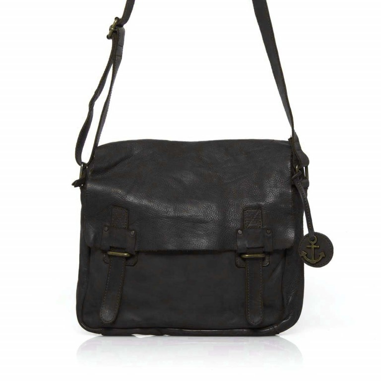 HARBOUR2nd Messenger Bag Funchal Dark Ash, Farbe: anthrazit, Marke: Harbour 2nd, Abmessungen in cm: 29.0x25.0x7.0, Bild 1 von 5