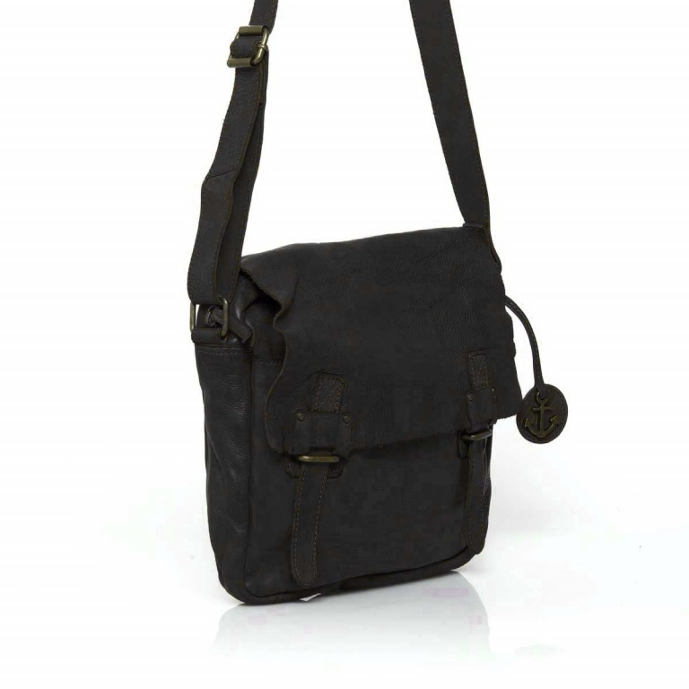 HARBOUR2nd Messenger Bag Funchal Dark Ash, Farbe: anthrazit, Marke: Harbour 2nd, Abmessungen in cm: 29.0x25.0x7.0, Bild 3 von 5