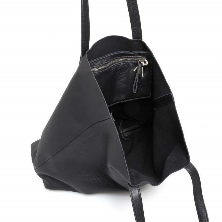 LIEBESKIND Vintage Viki Shopper Black, Farbe: schwarz, Marke: Liebeskind Berlin, EAN: 4051436860177, Abmessungen in cm: 35.0x38.5x9.0, Bild 3 von 4