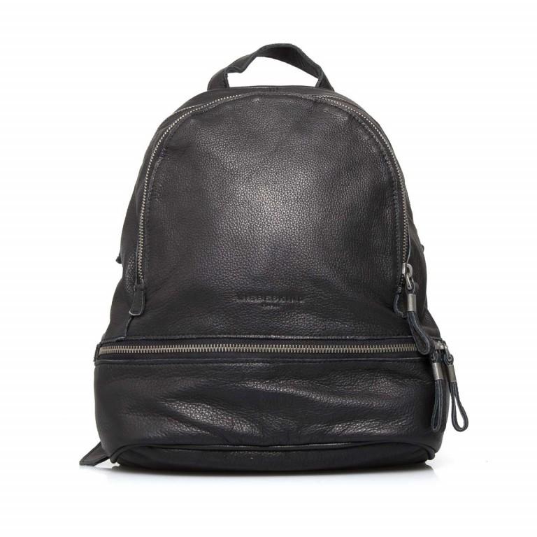 LIEBESKIND Vintage Lotta Rucksack Black, Farbe: schwarz, Marke: Liebeskind Berlin, EAN: 4051436833218, Abmessungen in cm: 26.0x32.0x11.0, Bild 1 von 6