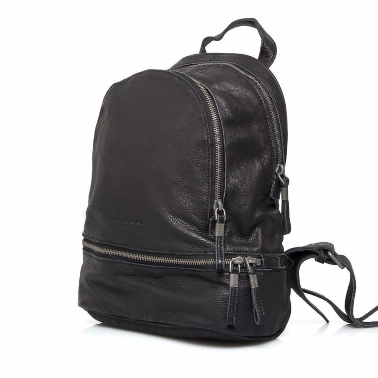 LIEBESKIND Vintage Lotta Rucksack Black, Farbe: schwarz, Marke: Liebeskind Berlin, EAN: 4051436833218, Abmessungen in cm: 26.0x32.0x11.0, Bild 2 von 6