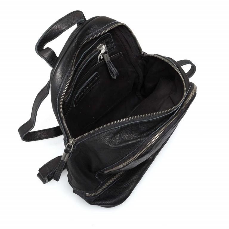LIEBESKIND Vintage Lotta Rucksack Black, Farbe: schwarz, Marke: Liebeskind Berlin, EAN: 4051436833218, Abmessungen in cm: 26.0x32.0x11.0, Bild 4 von 6