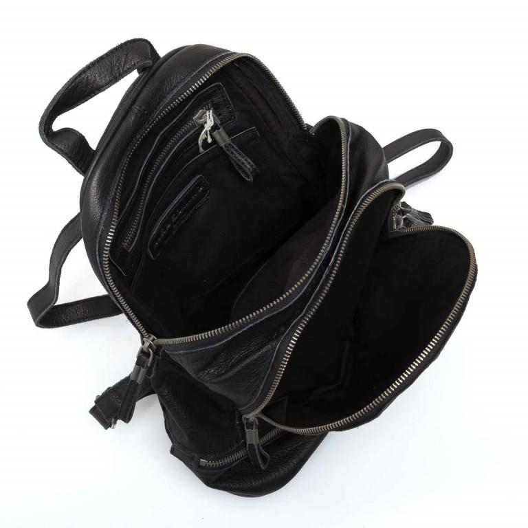LIEBESKIND Vintage Lotta Rucksack Black, Farbe: schwarz, Marke: Liebeskind Berlin, EAN: 4051436833218, Abmessungen in cm: 26.0x32.0x11.0, Bild 5 von 6
