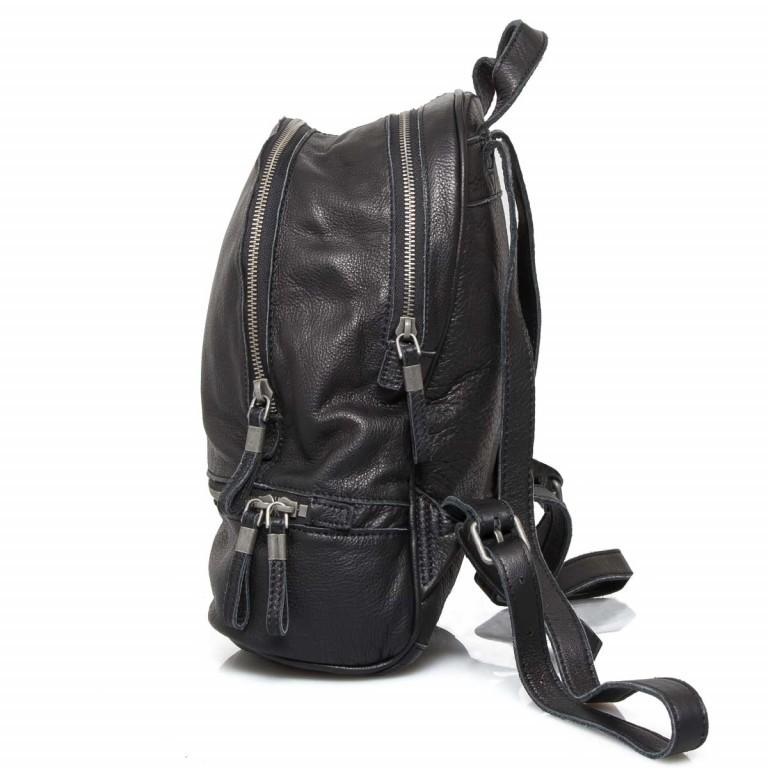 LIEBESKIND Vintage Lotta Rucksack Black, Farbe: schwarz, Marke: Liebeskind Berlin, EAN: 4051436833218, Abmessungen in cm: 26.0x32.0x11.0, Bild 3 von 6