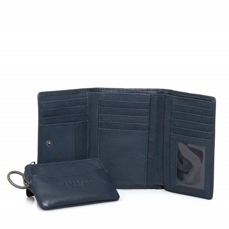 LIEBESKIND Vintage Alexandra 6 Börse Dark Blue, Farbe: blau/petrol, Marke: Liebeskind Berlin, EAN: 4051436837414, Abmessungen in cm: 14.0x10.0x3.5, Bild 1 von 4