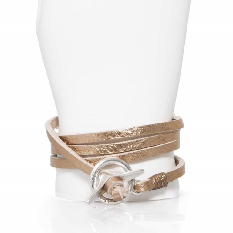 LIEBESKIND Joy Wickelarmband Copper, Farbe: metallic, Marke: Liebeskind Berlin, EAN: 4051436829822, Abmessungen in cm: 67.0x0.5, Bild 2 von 2
