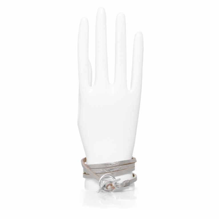 LIEBESKIND Joy Wickelarmband Silber, Farbe: metallic, Marke: Liebeskind Berlin, EAN: 4051436829808, Abmessungen in cm: 67.0x0.5, Bild 1 von 2