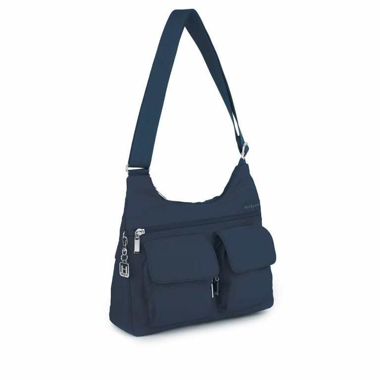Hedgren Inner City Shoulder Bag Prarie Dress-Blue, Farbe: blau/petrol, Marke: Hedgren, Abmessungen in cm: 30.0x24.0x10.0, Bild 2 von 2
