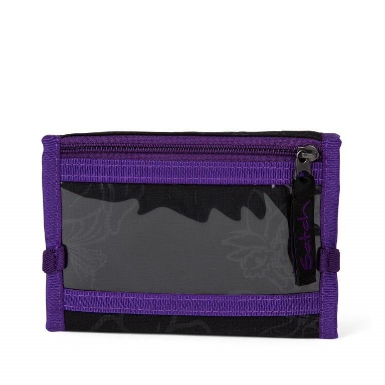Satch Geldbeutel Purple Hibiscus, Farbe: schwarz, flieder/lila, Marke: Satch, EAN: 4057081025800, Abmessungen in cm: 13.0x8.5x2.0, Bild 4 von 4