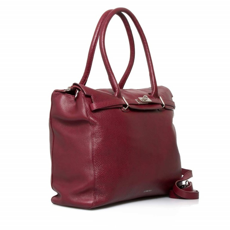 GiGi FRATELLI Romance 0038 Business Shopper Rubino, Farbe: rot/weinrot, Marke: Gigi Fratelli, Abmessungen in cm: 33.0x29.0x13.5, Bild 2 von 7