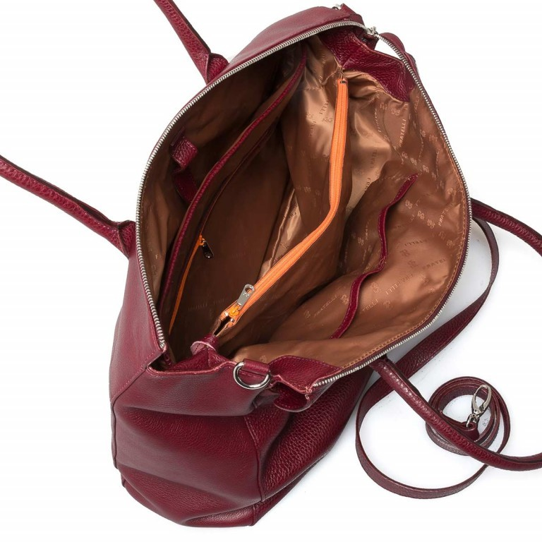 GiGi FRATELLI Romance 0038 Business Shopper Rubino, Farbe: rot/weinrot, Marke: Gigi Fratelli, Abmessungen in cm: 33.0x29.0x13.5, Bild 5 von 7