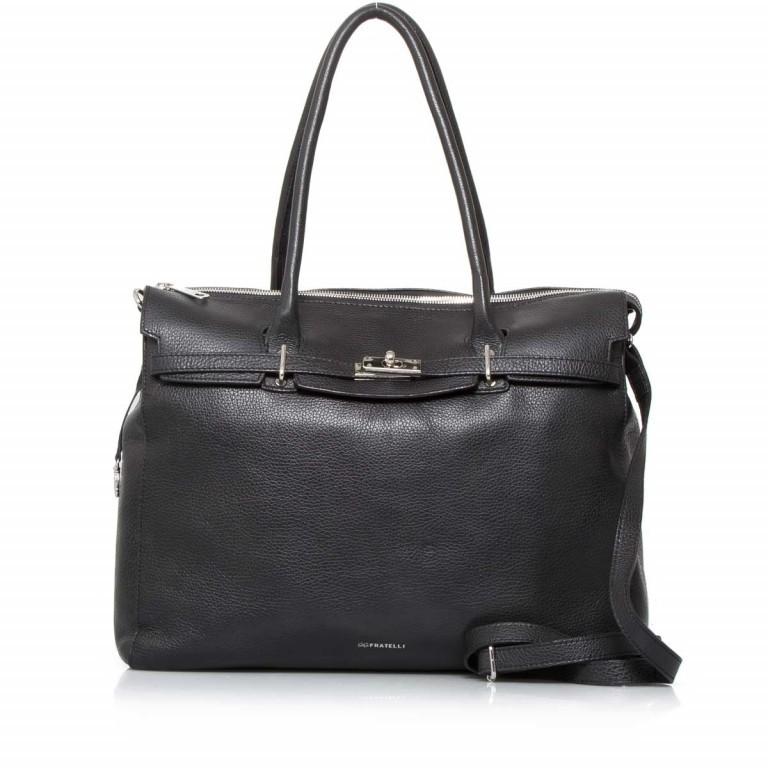 GiGi FRATELLI Romance 0038 Business Shopper Black, Farbe: schwarz, Marke: Gigi Fratelli, Abmessungen in cm: 39.0x29.0x13.5, Bild 1 von 6