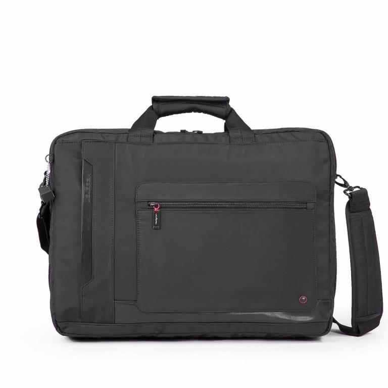 Hedgren Zepplin Reviewed Excess Laptoptasche Black, Farbe: schwarz, Marke: Hedgren, Abmessungen in cm: 48.0x35.0x11.0, Bild 1 von 3