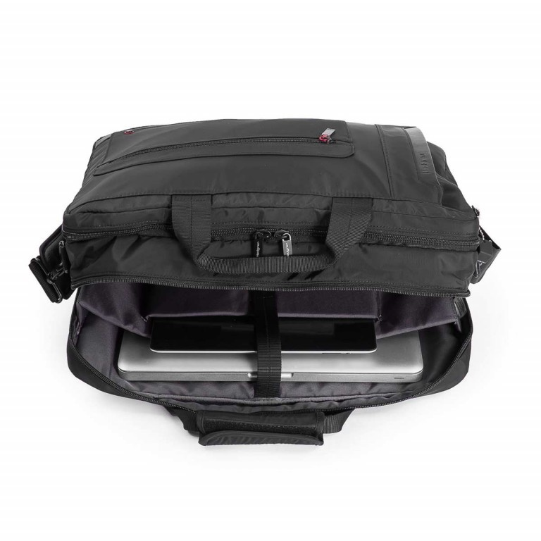 Hedgren Zepplin Reviewed Excess Laptoptasche Black, Farbe: schwarz, Marke: Hedgren, Abmessungen in cm: 48.0x35.0x11.0, Bild 3 von 3