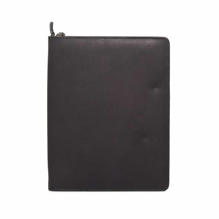 LEONHARD HEYDEN Dakota Schreibmappe Schwarz, Farbe: schwarz, Marke: Leonhard Heyden, EAN: 4059385756084, Abmessungen in cm: 25.0x32.0x3.0, Bild 1 von 3