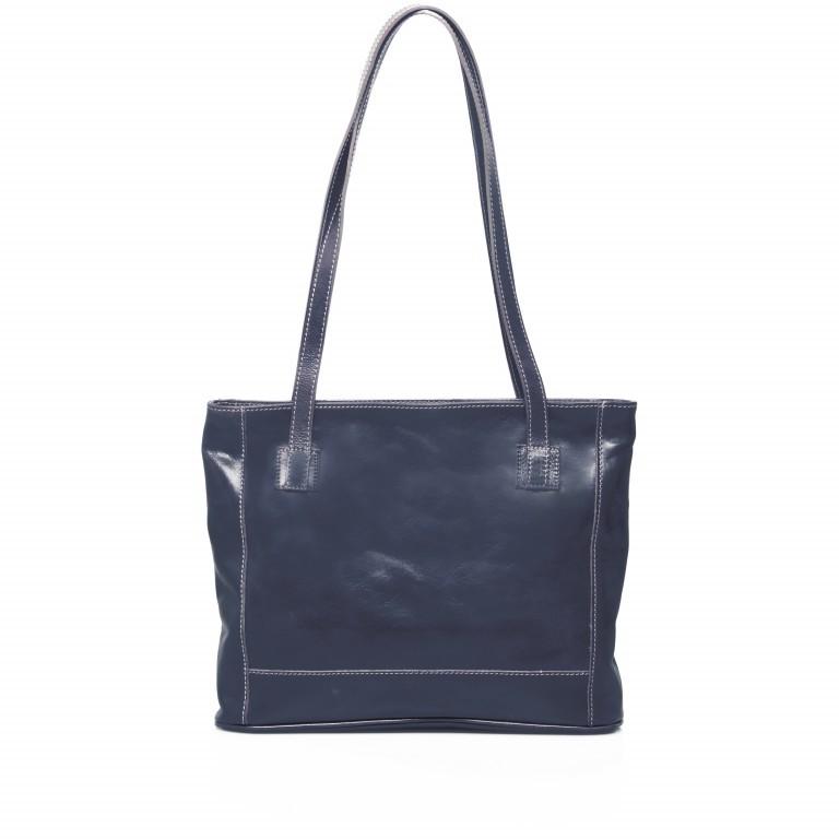 LOUBS Alaska Shopper Vacchettaleder Dunkelblau, Farbe: blau/petrol, Marke: Loubs, Abmessungen in cm: 38.0x31.0x7.0, Bild 4 von 4