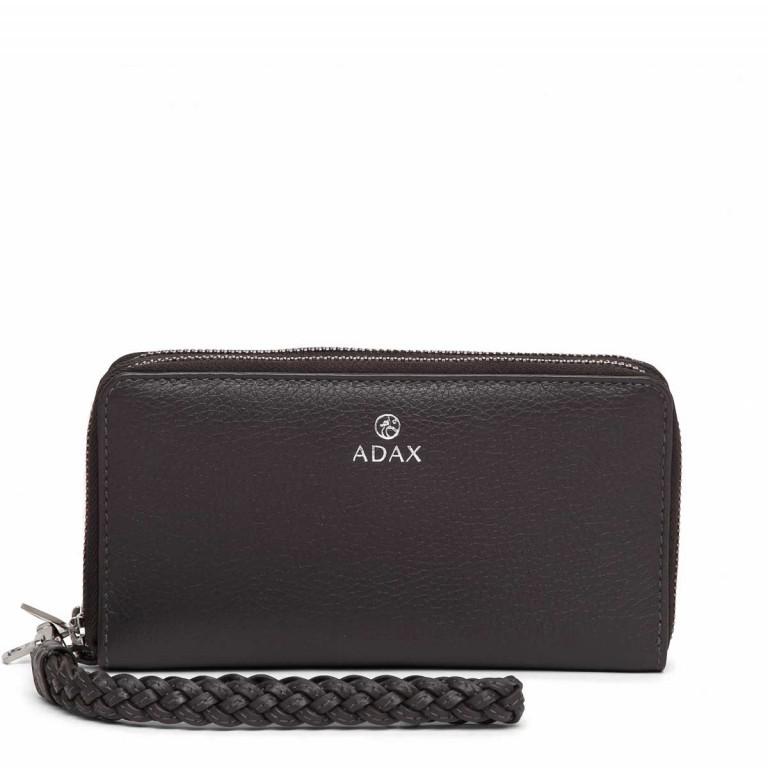 Adax Cormorano 196492 Reißverschluss-Börse Dark Grey, Farbe: grau, Marke: Adax, EAN: 5705483180618, Abmessungen in cm: 19.0x10.0x3.5, Bild 1 von 3