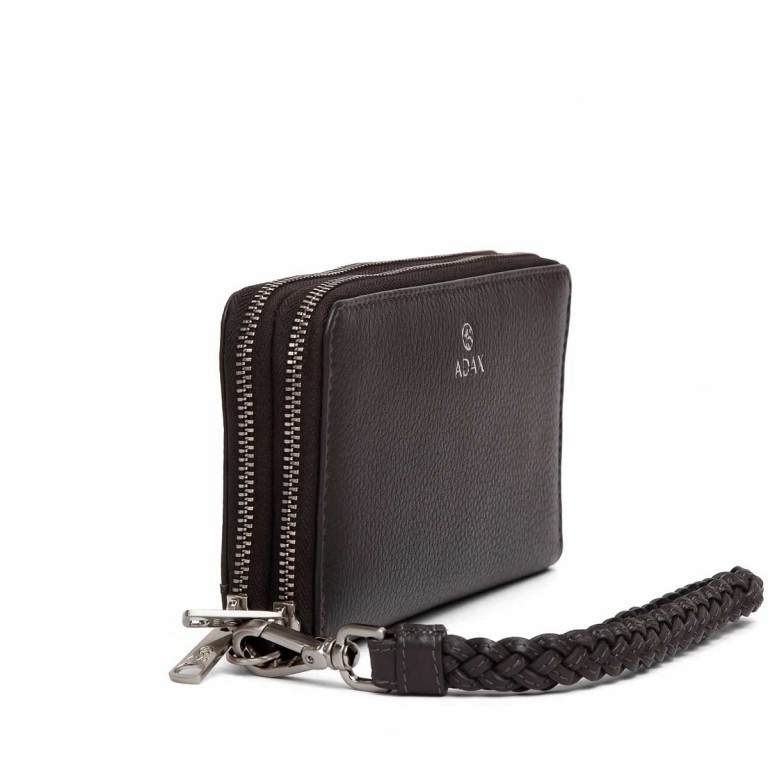 Adax Cormorano 196492 Reißverschluss-Börse Dark Grey, Farbe: grau, Manufacturer: Adax, EAN: 5705483180618, Dimensions (cm): 19.0x10.0x3.5, Image 2 of 3