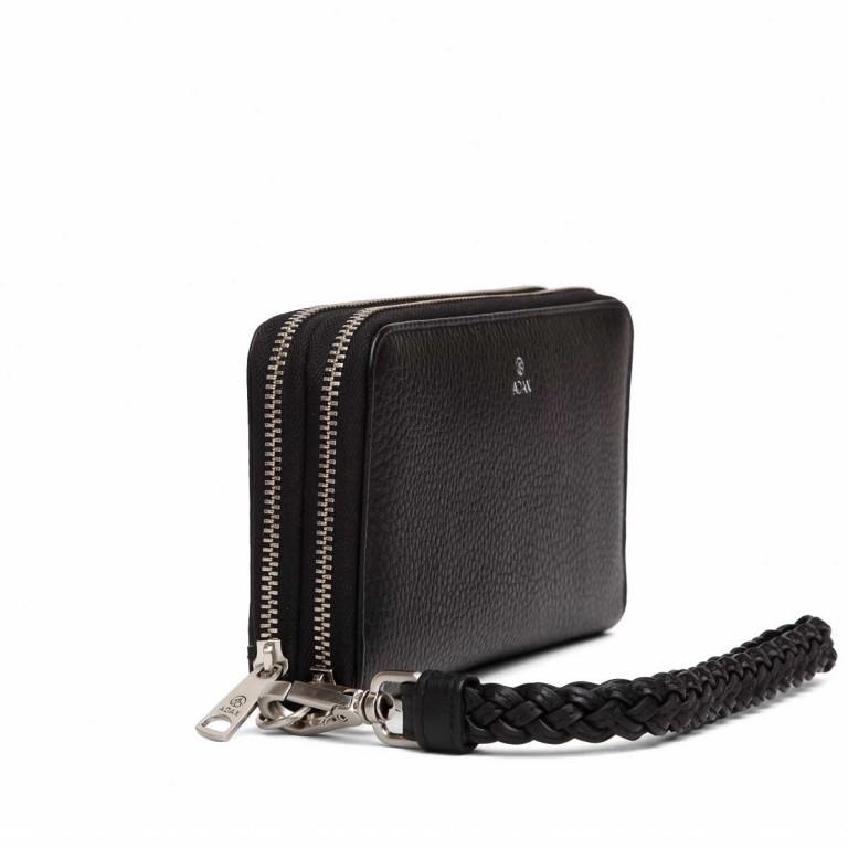 Adax Cormorano 196492 Reißverschluss-Börse Black, Farbe: schwarz, Marke: Adax, EAN: 5705483160276, Abmessungen in cm: 19.0x10.0x3.5, Bild 2 von 3