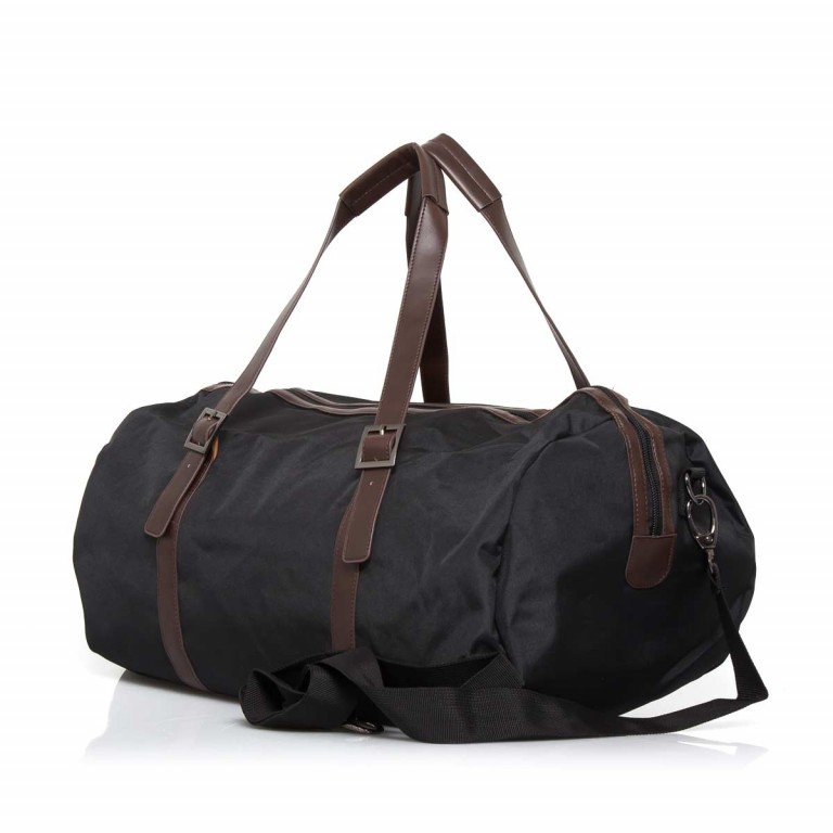 LEONHARD HEYDEN Hamilton Reisetasche Schwarz, Farbe: schwarz, braun, Marke: Leonhard Heyden, Abmessungen in cm: 50.0x25.0x25.0, Bild 2 von 4