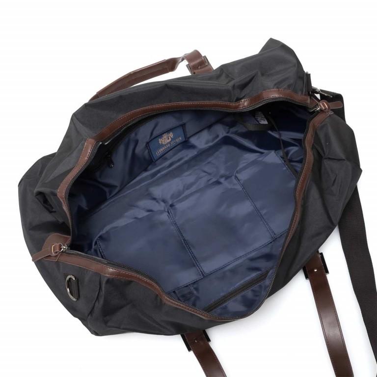 LEONHARD HEYDEN Hamilton Reisetasche Schwarz, Farbe: schwarz, braun, Marke: Leonhard Heyden, Abmessungen in cm: 50.0x25.0x25.0, Bild 3 von 4