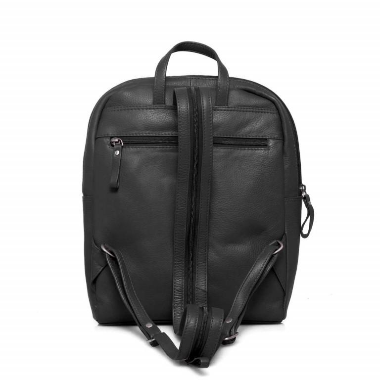 Portobello Rucksack Leder Schwarz, Farbe: schwarz, Marke: Portobello, Abmessungen in cm: 23.0x30.0x7.0, Bild 5 von 6