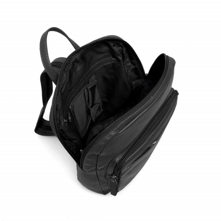 Portobello Rucksack Leder Schwarz, Farbe: schwarz, Marke: Portobello, Abmessungen in cm: 23.0x30.0x7.0, Bild 4 von 6