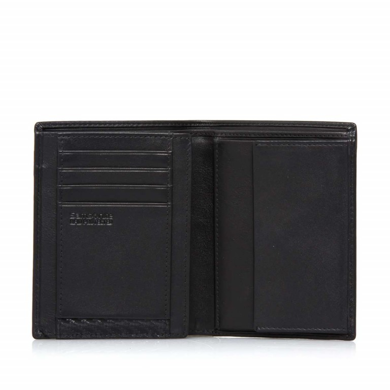 Samsonite S-Derry 57638 Kombibörse Black, Farbe: schwarz, Marke: Samsonite, Abmessungen in cm: 9.8x12.7x1.5, Bild 2 von 4