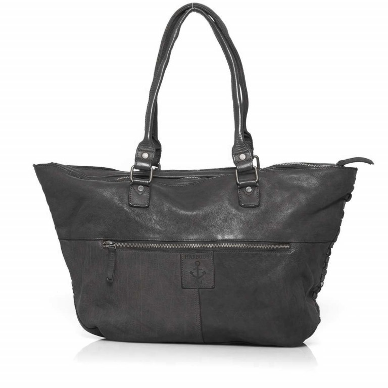 HARBOUR2nd Shopper Malea Dark Ash, Farbe: anthrazit, Marke: Harbour 2nd, Abmessungen in cm: 51.0x33.0x15.0, Bild 4 von 4