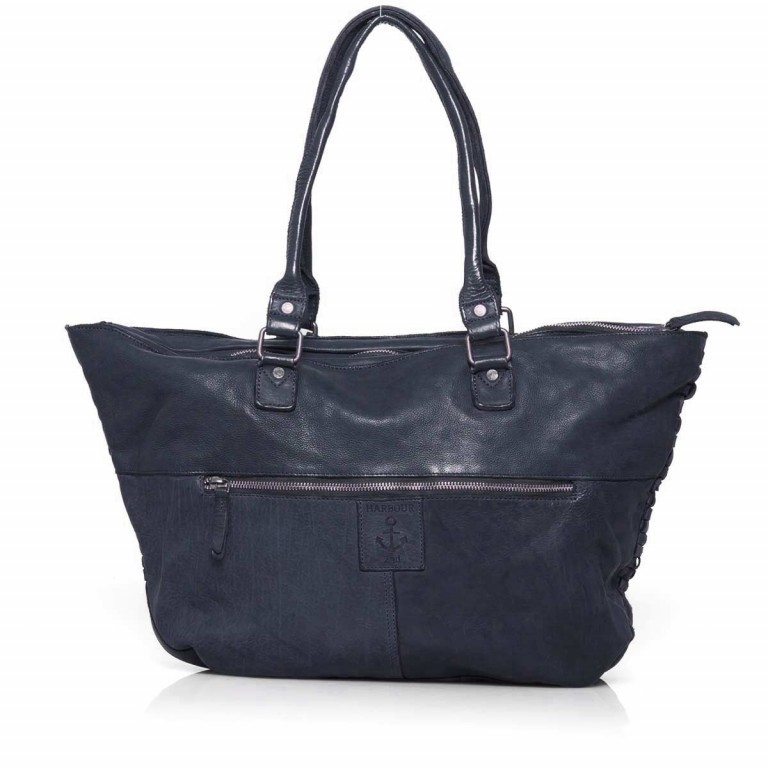 HARBOUR2nd Shopper Malea Midnight Navy, Farbe: blau/petrol, Marke: Harbour 2nd, Abmessungen in cm: 51.0x33.0x15.0, Bild 4 von 4