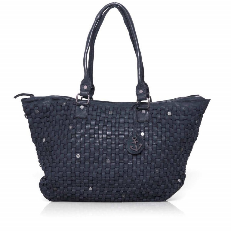 HARBOUR2nd Shopper Malea Midnight Navy, Farbe: blau/petrol, Marke: Harbour 2nd, Abmessungen in cm: 51.0x33.0x15.0, Bild 1 von 4