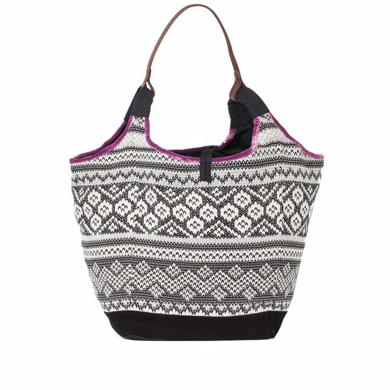 Anokhi Beutel Cheyenne Malin Multi, Farbe: schwarz, flieder/lila, weiß, Marke: Anokhi, Abmessungen in cm: 40.0x34.0x25.0, Bild 4 von 4