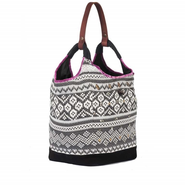Anokhi Beutel Cheyenne Malin Multi, Farbe: schwarz, flieder/lila, weiß, Marke: Anokhi, Abmessungen in cm: 40.0x34.0x25.0, Bild 2 von 4