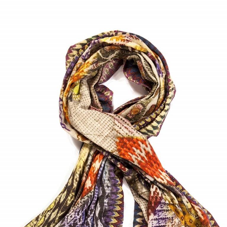 Anokhi Riko Schal mit Bordüre Multi, Farbe: bunt, Marke: Anokhi, Abmessungen in cm: 180.0x100.0, Bild 2 von 2