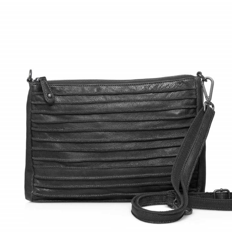 FREDsBRUDER Riffel 18-56r-01 Crossbody Black, Farbe: schwarz, Marke: FredsBruder, Abmessungen in cm: 26.0x18.0x2.0, Bild 1 von 4