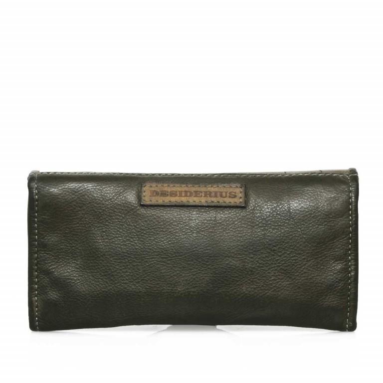 Desiderius Mons Hemma Damenbörse Leder Dark Olive, Farbe: grün/oliv, Marke: Desiderius, Abmessungen in cm: 19.0x10.0x2.0, Bild 2 von 3