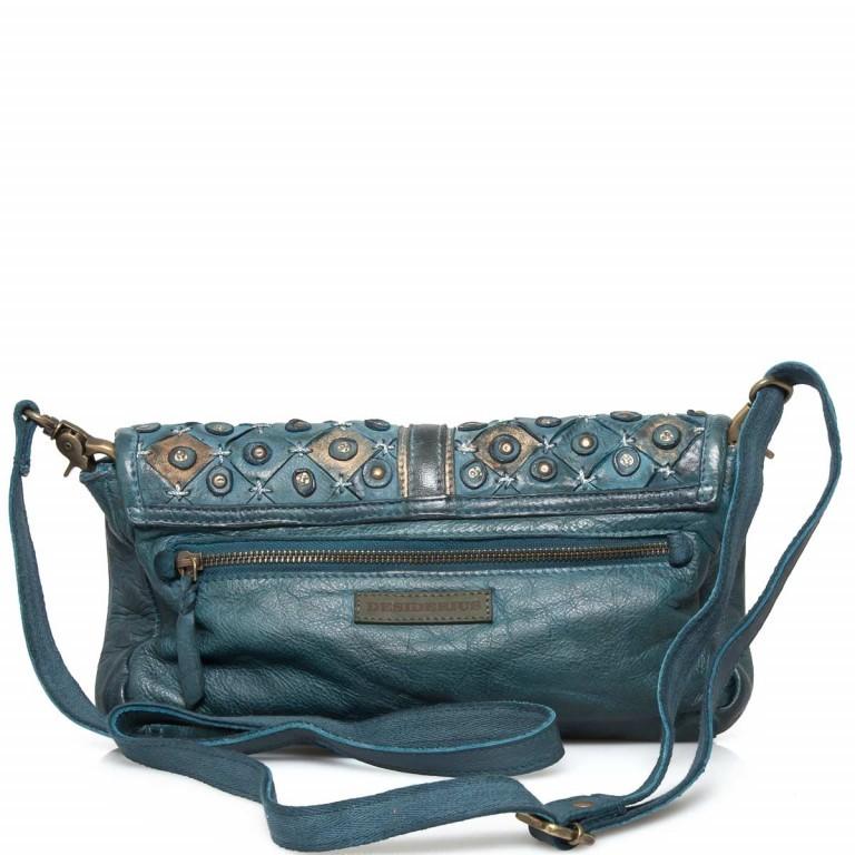 Desiderius Clavus Alka Tasche Leder Blue, Farbe: blau/petrol, Marke: Desiderius, Abmessungen in cm: 29.0x16.0x2.0, Bild 3 von 3