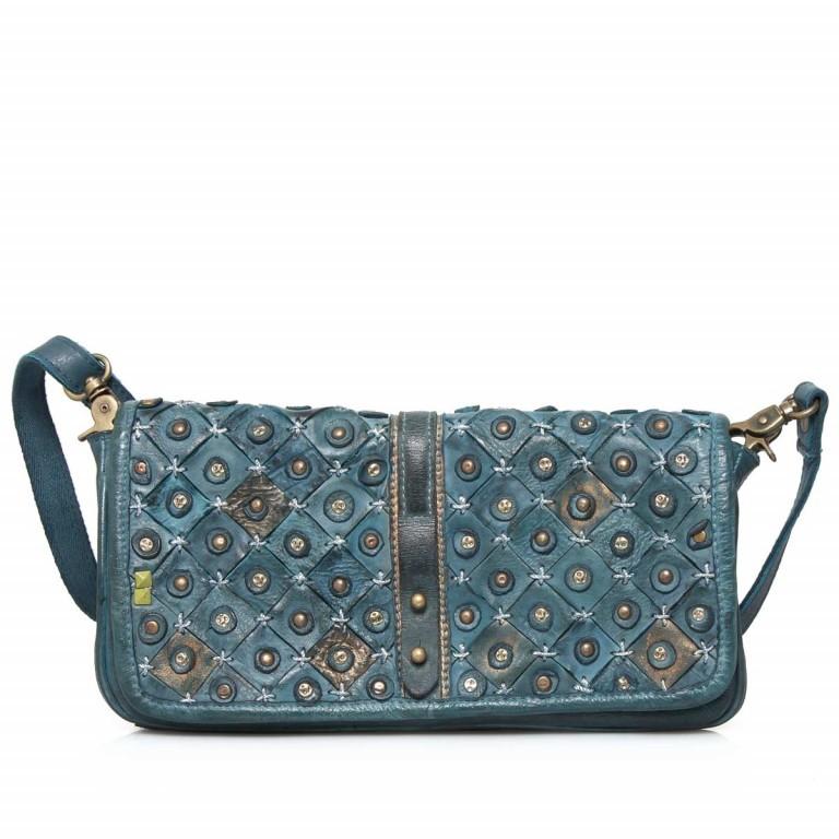 Desiderius Clavus Alka Tasche Leder Blue, Farbe: blau/petrol, Marke: Desiderius, Abmessungen in cm: 29.0x16.0x2.0, Bild 1 von 3