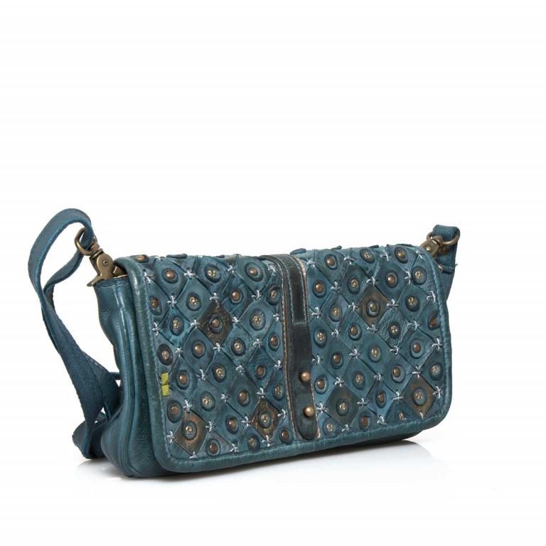 Desiderius Clavus Alka Tasche Leder Blue, Farbe: blau/petrol, Marke: Desiderius, Abmessungen in cm: 29.0x16.0x2.0, Bild 2 von 3