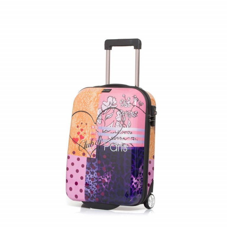 Travelite Flux Trolley 55cm Love, Farbe: flieder/lila, rosa/pink, orange, bunt, Marke: Travelite, Abmessungen in cm: 38.0x55.0x20.0, Bild 1 von 6