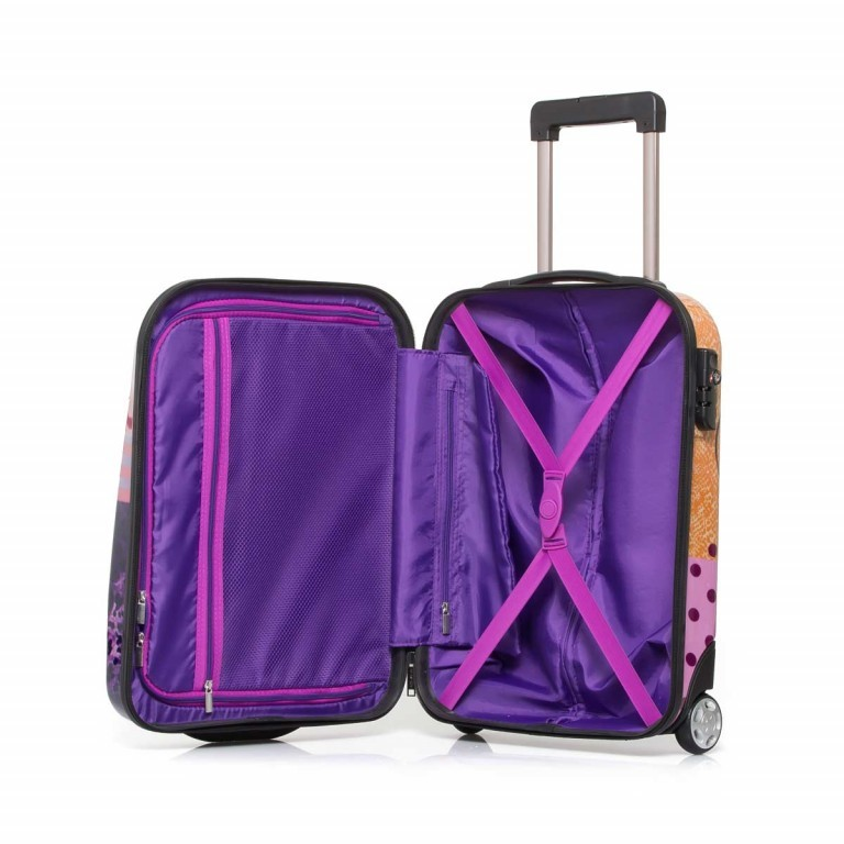 Travelite Flux Trolley 55cm Love, Farbe: flieder/lila, rosa/pink, orange, bunt, Marke: Travelite, Abmessungen in cm: 38.0x55.0x20.0, Bild 3 von 6