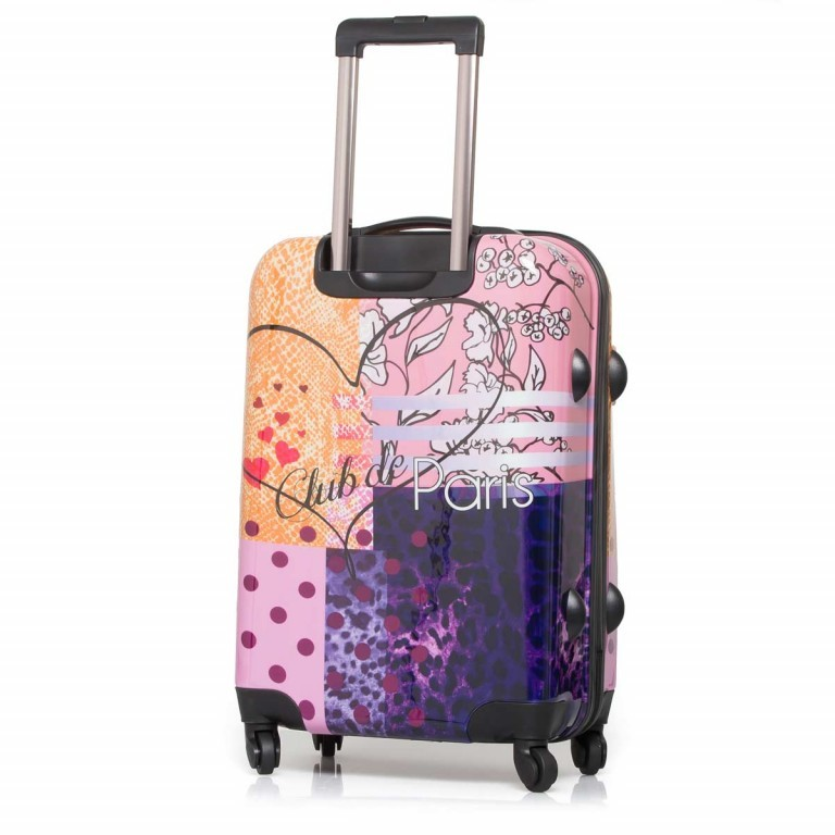 Travelite Flux Trolley 65cm Love, Farbe: flieder/lila, rosa/pink, orange, bunt, Marke: Travelite, Abmessungen in cm: 40.0x65.0x25.0, Bild 4 von 6