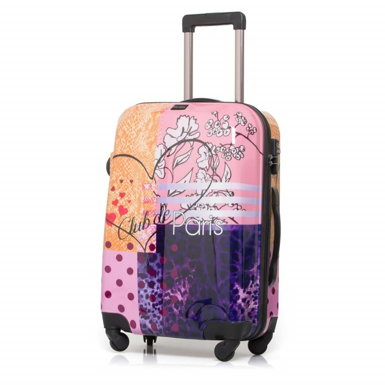 Travelite Flux Trolley 65cm Love, Farbe: flieder/lila, rosa/pink, orange, bunt, Marke: Travelite, Abmessungen in cm: 40.0x65.0x25.0, Bild 1 von 6