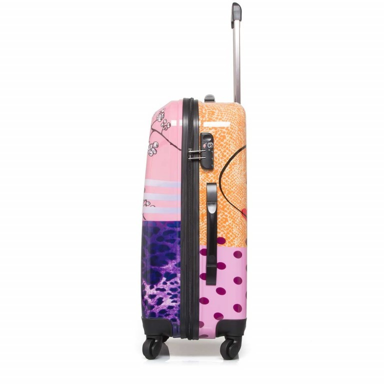 Travelite Flux Trolley 65cm Love, Farbe: flieder/lila, rosa/pink, orange, bunt, Marke: Travelite, Abmessungen in cm: 40.0x65.0x25.0, Bild 3 von 6