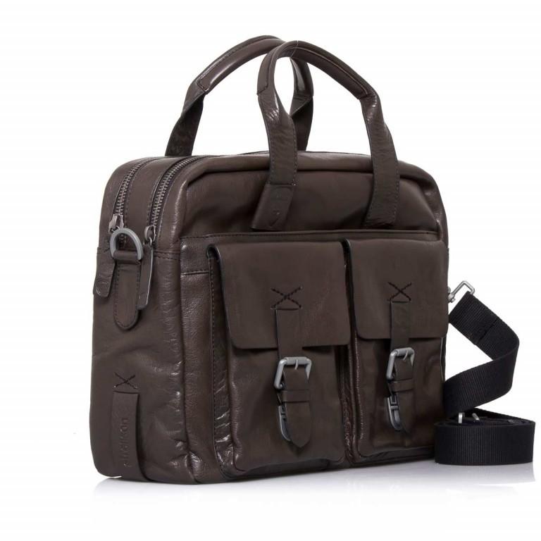 Strellson Greenford Softbriefcase XL Mud, Farbe: braun, Marke: Strellson, EAN: 4053533195817, Abmessungen in cm: 40.0x30.0x14.0, Bild 2 von 4