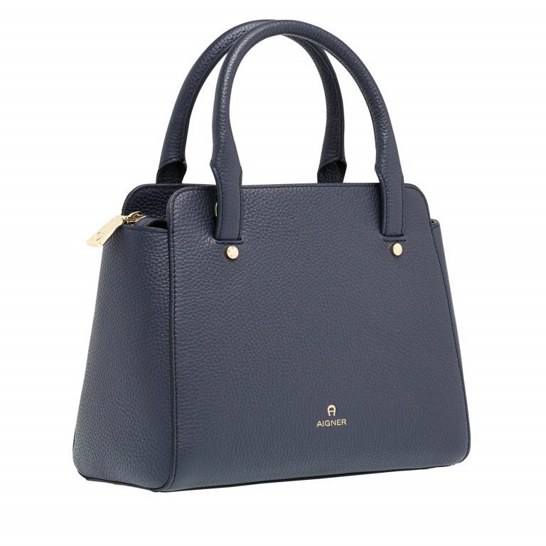 AIGNER Ivy Handtasche 133423 Marine, Farbe: blau/petrol, Marke: Aigner, Abmessungen in cm: 24.0x21.0x9.0, Bild 2 von 3