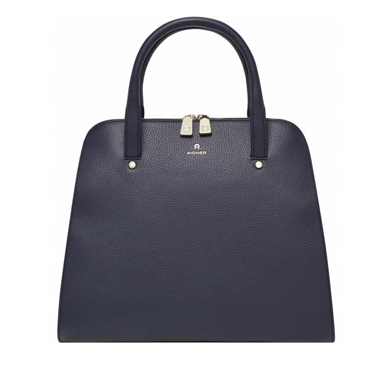 AIGNER Ivy Handtasche 133424 Marine, Farbe: blau/petrol, Marke: Aigner, Abmessungen in cm: 34.0x28.0x10.0, Bild 1 von 3